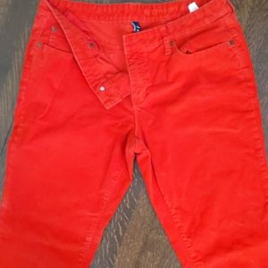 Gap Bright Red Corduroy pants